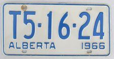 Alberta 1966 License Plate HIGH QUALITY # T5-16-24