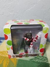 New Sandicast Choc Labrador Retriever Dog w/ Scarf Christmas Tree Ornament