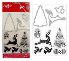 Art C Stamp and Die Set - Religious, Snowflake, Buck, Gingerbread or Tree