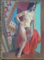 ROSAMONDE AUBREY-PLISSON PEINTRE ANGLAISE NU FEMME CUBISTE DATE 1941 BENEZIT