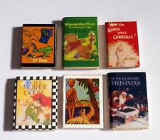 Libros en miniatura de 6-Casa De Muñecas Muebles-mini/Small-escala 1:12 - Libro De Madera-Clásica