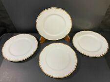 "Harmony House CASTLEMORE 10 1/2"" DINNER PLATES Lot Set x 4 Japan Scalloped Rim"