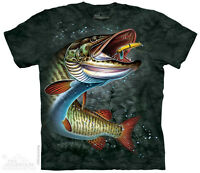 Muskie T-Shirt by The Mountain. Fishing Tee Sizes S-5XL NEW