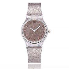 Transparent Glitter Transparent Colorful Quartz Wristwatches Wrist Band Watch