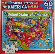 60 Piece Jigsaw Puzzle Map of the 50 Sates of the United States of America