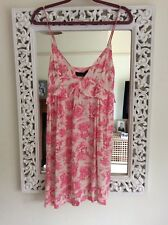 Topshop Ivory and Pink Toile China Print Babydoll Dress, UK Size 10 Immaculate