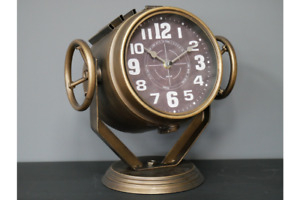 Freestanding  Searchlight Metal Desk Clock   Adjustable