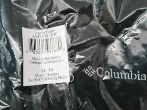 Columbia Men's Fast Trek II Full Zip Fleece , Black , XL