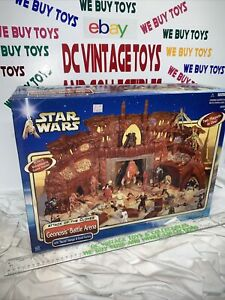 NEW IN BOX -2002 Geonosis Battle Arena Playset, Star Wars Attack Of The Clones