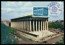 FRANCE MK 1969 EUROPA CEPT PARIS EGLISE MADELAINE CARTE MAXIMUM CARD MC CM h0972