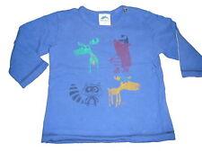 Eat Ants by Sanetta tolles Langarm Shirt Gr. 68 blau mit Tier Motiven !