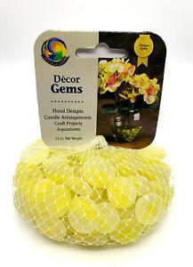 "Mega Marbles 1/2 - 3/4"" Round Lemon Sorbet Mosaic Glass Gems 12oz Net Bag Vacor"