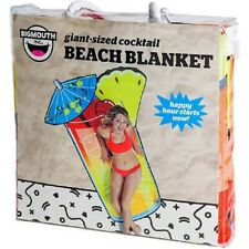 """New Giant 6 foot 75.5"""" x 59.5"""" Cocktail Drink Beach Blanket Pool Towel, BigMouth"""