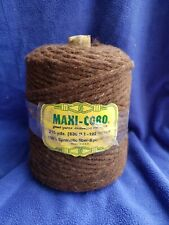 Vintage 10mm Thick Maxi-Cord 8 Ply Synthetic Fiber 630ft Twist Dark Brown Usa