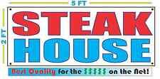 STEAK HOUSE Banner Sign NEW 2X5