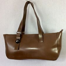 Furla Italian Ladies Medium Brown Nickel Stud Tote Bag Shoulder Bag Handbag