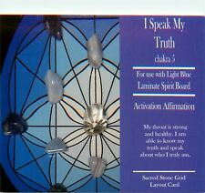 "I SPEAK MY TRUTH Grid Card 4x6"" Heavy Cardstock For Use with Healing Crystals"