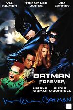 "Val Kilmer ""Batman"" Autographed Batman Forever 11x17 Poster ASI Proof"