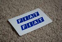 Fiat Car Vehicle Logo Badge Car Motorbike Racing Race Decals Stickers Blue 50mm