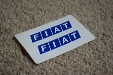 Fiat Car Vehicle Logo Badge Car Motorbike Racing Race Decals Stickers Blue 50mm
