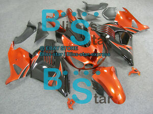 Orange Fairings Kit Kawasaki Ninja ZX14R ZX-14R 07 08 09 10 2006-2011 14 A4