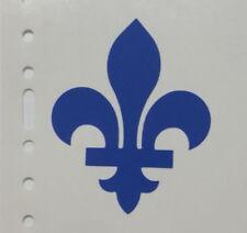 FLEUR DE LYS 2.6'' Quebec Flag French France  Emblem  Fleur de lis Vinyl  Decal