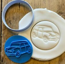 Mini car embosser with free circle cutter, icing, fondant cupcake