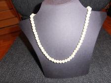 Perlen Hals Kette weiße Perlen  Hämatit perlen 10 mm