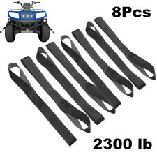 8 Pcs Soft Loop Tie Down Straps Ratchet Towing Cargo ATV UTV Motorcycle 2300 lb