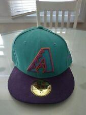 VTG Arizona Diamondbacks New Era 59Fifty 7 5/8 Fitted Hat 100% Wool USA