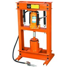 20 Ton Air Hydraulic Shop Press w/ Oil Filter Crusher