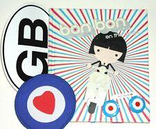MOD Valentine Bon Bon on the Go-Go book patch pin sticker Vespa scooter pop art