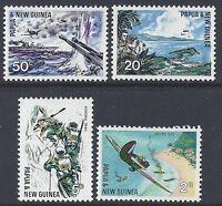 1967 PAPUA NEW GUINEA PACIFIC WAR ANNIVERSARY FINE MINT SET OF 4 MNH/MUH