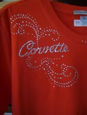 Corvette Ladies Scroll Design Custom  Sm-3X   Lots of Colors, Other words avail