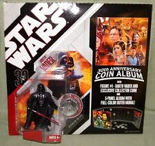 "DARTH VADER #01 & COIN ALBUM Star Wars 30th Anniversary 3.75"" Action Figure 2006"