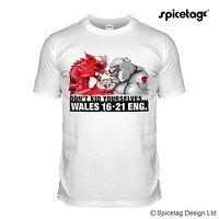 Wales V England 16-21 Rugby Sport T-shirt Dragon Bulldog 16 21 Nations Tshirt T