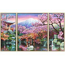 Kirschblüte in Japan Malen nach Zahlen 609260751 Schipper Triptychon 50x80cm