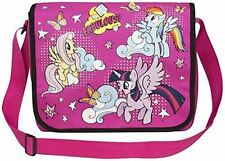 Rose mon petit poney enfants filles large messenger school travel book sac bandoulière