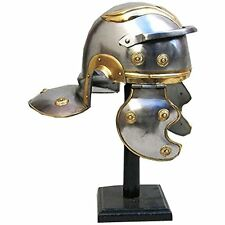 Handcrafted Roman Guard Helmet in SteelBrass Trim ,Medieval Knight Crusader