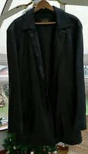mdk heavy solid leather jacket long xl used