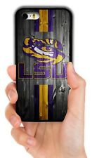 LSU TIGERS RUBBER PHONE CASE FOR IPHONE XS 11 PRO MAX XR 4S 5 5C 6S 7 8 PLUS