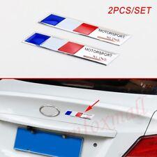 Aluminium Car Motor Badge France Country Flag Emblem Sticker Decal Stripes Trim