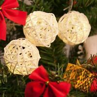 10pcs 3cm Rattan Ball Christmas Home Ornament Birthday Party Wedding Decor 2019H