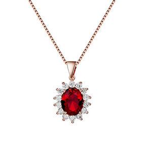 UK Classic Large Cystal Pendant Neckace Same Design As Princess Kate'S Ring