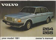 VOLVO 264 SALOON & 265 ESTATE ORIGINAL 1981 OWNERS INSTRUCTION MANUAL