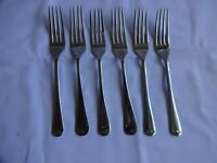 Vintage Nickel Silver forks x 6 Mixed Makers Length 17 cm