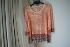 NEW MARKS AND SPENCER PATTERN TOP  SIZE 24