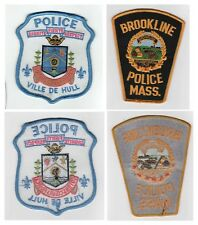VINTAGE POLICE PATCH LOT Gatineau Quebec Canada BROOKLINE MASSACHUSETTS Hull