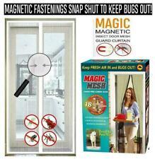Magic Mesh magnetica Tenda Schermo Netto Fly Bug Zanzara Insetti Porta le mani libere