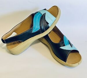 Blue Sandals Women's UK Size 7 Wedge